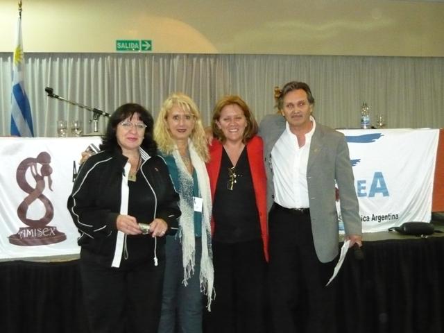 Gloria Fernandez, Gloria Imaz, Silvia Darrichón y Raúl Belén