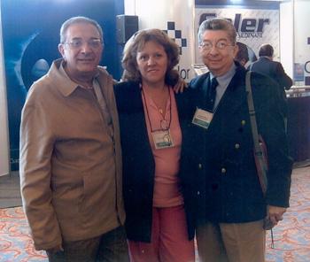 Junto a Norberto, con el Dr. Rodolfo Rodriguez Carrión.